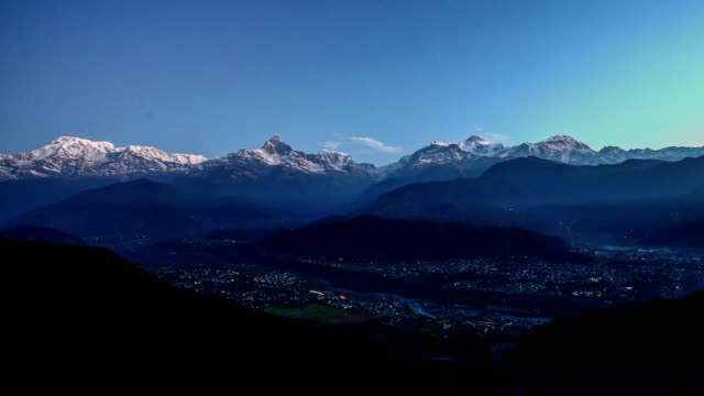 time lapse of annapurna, nepal - annapurna range stock videos and b-roll footage