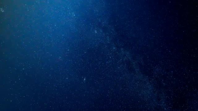 vidéos et rushes de time lapse of beautiful night sky et milky way - météore