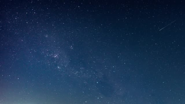 time lapse of beautiful night sky milky way stars - copy space stock videos & royalty-free footage