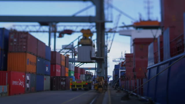 time lapse of belfast port - northern ireland stock videos & royalty-free footage