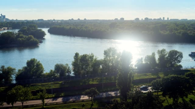 time lapse of belgrade waterfront - river danube stock videos & royalty-free footage