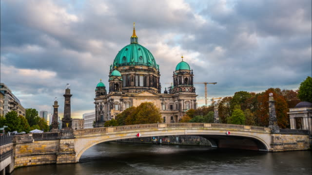 Time lapse of Berlin Cathedral, Berliner Dom, Germany