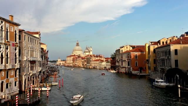 Time lapse of boats on Grand Canal in Venice, Itlay