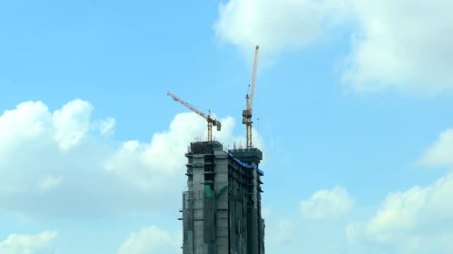 Time lapse di edificio in costruzione
