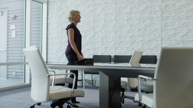 vídeos de stock e filmes b-roll de time lapse of businesswoman interviewing people in conference room / provo, utah, united states,  - procurar emprego