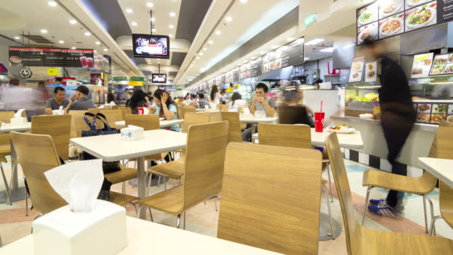 time lapse of cafeteria in the supermarket - food court stock videos and b-roll footage