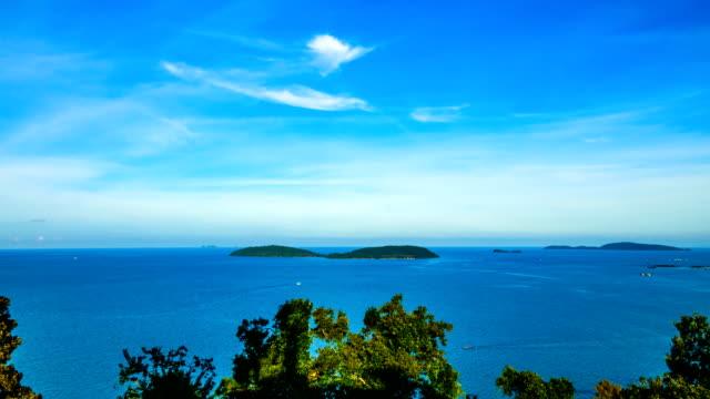 time lapse of calm seascape video background - turchese blu video stock e b–roll