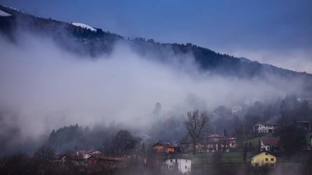 Time Lapse of Cerano D'Intelvi in Fog
