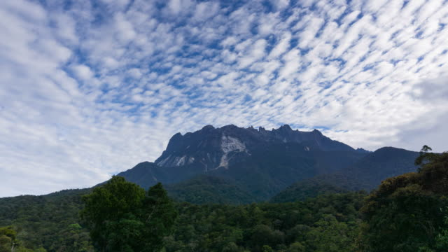 time lapse of  cirrocumulus clouds - mt kinabalu national park stock videos and b-roll footage