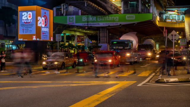 time - lapse of city street view , kuala lumpur, malaysia - kuala lumpur stock videos & royalty-free footage