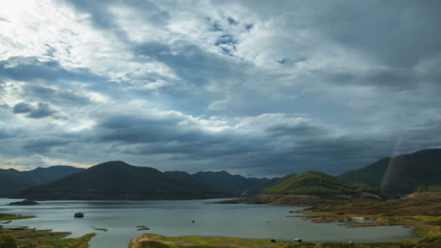 time lapse of cloud moving over the dam - saturated colour stock videos & royalty-free footage