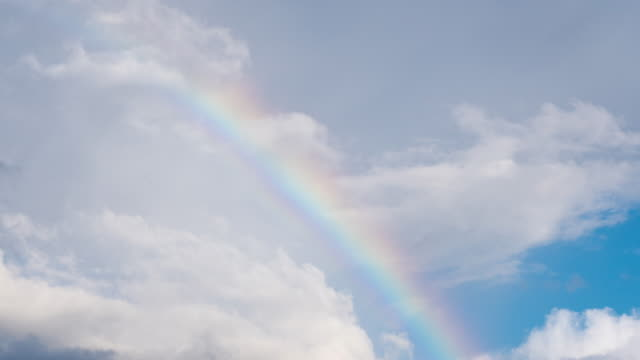 time lapse of clouds and rainbow - rainbow stock videos & royalty-free footage