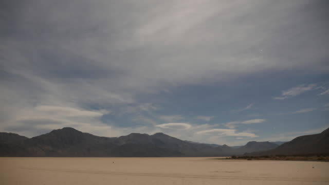 Time Lapse of Clouds and Stars at Racetrack playa, Death Valley