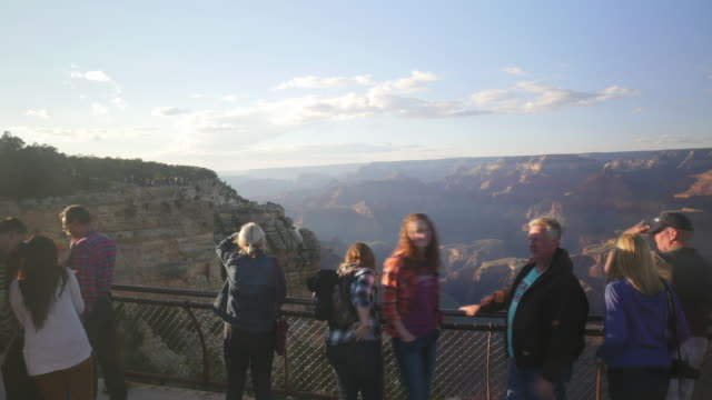 Time Lapse of Clouds and tourist visiting Grand Canyon national park