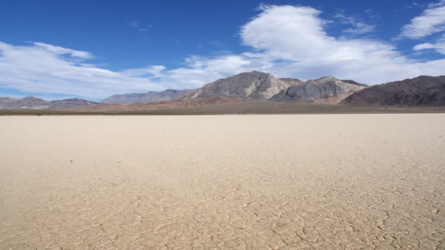 time lapse of clouds at racetrack playa, death valley - arid climate stock videos and b-roll footage