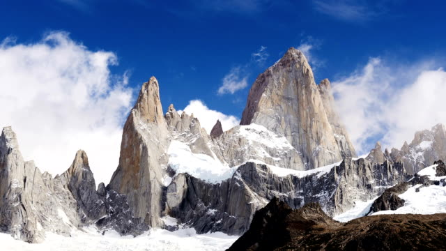 hd: time lapse of clouds forming over the fitz roy - argentina stock videos and b-roll footage
