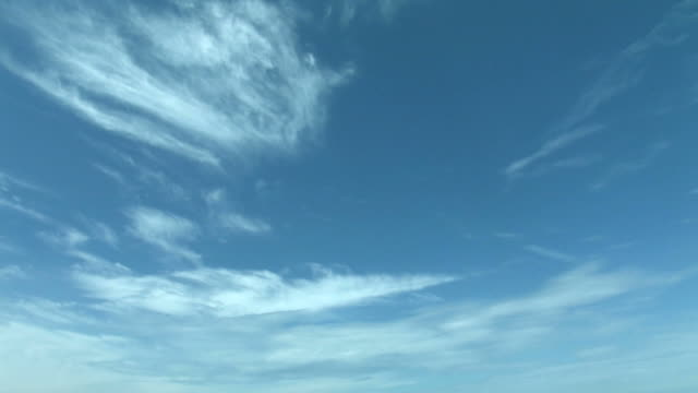 Time lapse of clouds in sky