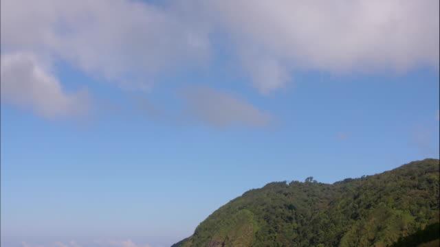 vídeos y material grabado en eventos de stock de lapso de tiempo de nubes moviéndose en la montaña, 4k, tl - mancha solar