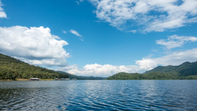 4k time lapse of clouds moving over mae ngad dam in chiang mai thailand - king of thailand stock videos and b-roll footage