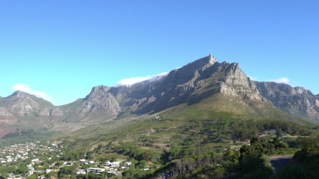 Time lapse of clouds moving over Table Mountain, Cape Town