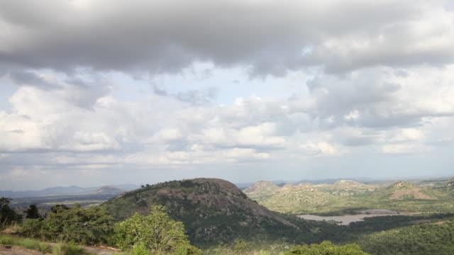 Time lapse of Clouds moving past hills in Avalabetta, chikkabellapur region of Karnataka.