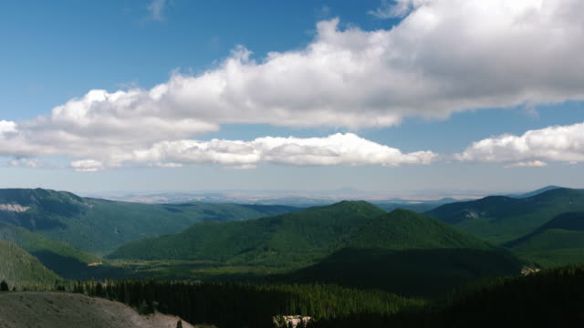 Time Lapse of Clouds Over Green Valley, Mount Hood National Forest