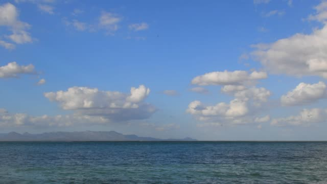 time lapse of clouds over the caribbean sea - caribbean sea stock videos & royalty-free footage