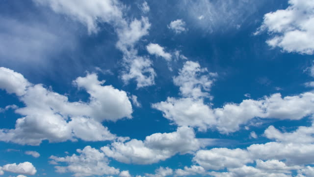 stockvideo's en b-roll-footage met time lapse of clouds  - blauw