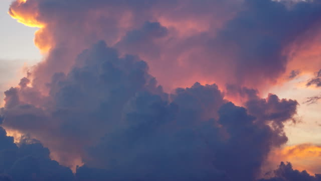 time lapse of cloudscape at sunrise - red cloud sky stock videos & royalty-free footage