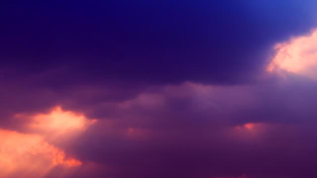 Time lapse of cloudscape