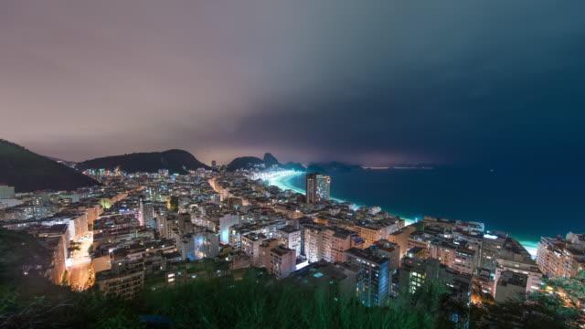 time lapse of coast in rio de janeiro with sugar loaf - bay of water bildbanksvideor och videomaterial från bakom kulisserna
