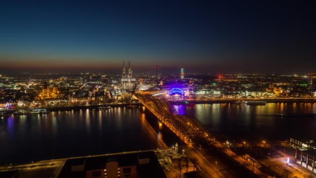 Zeit Ablauf der Kölner Skyline der Stadt in Deutschland