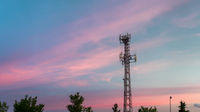 time lapse of communication tower - tower stock videos & royalty-free footage