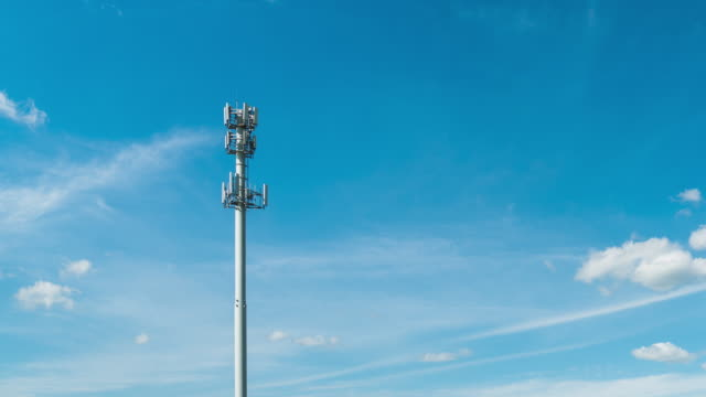 time lapse of communication tower - communications tower stock videos & royalty-free footage