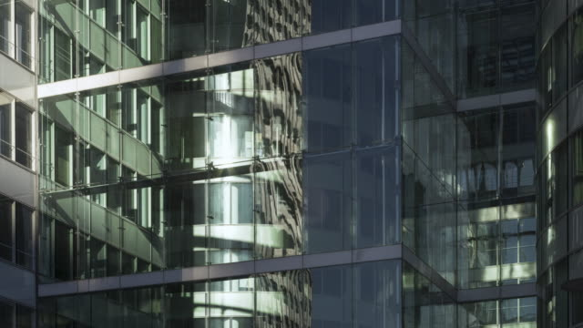Time lapse of corporate buildings in financial / business district