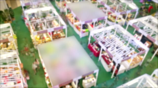 time lapse of crowded people in shopping mall. - tradeshow stock videos & royalty-free footage
