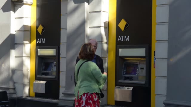 Time Lapse of customers using Commonwealth Bank of Australia automated teller machines