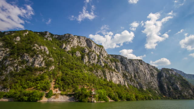 Time Lapse of Danube River near Orsova, Romania