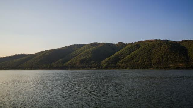 Time Lapse of Danube River near Orsova, Romania