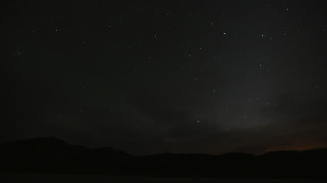 Time Lapse of Dawn at Racetrack playa, Death Valley