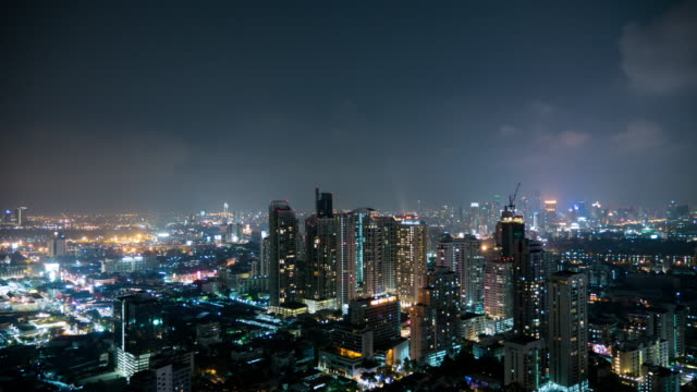 Time Lapse of Downtown bangkok