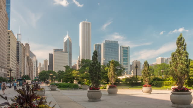 Time lapse of downtown Chicago