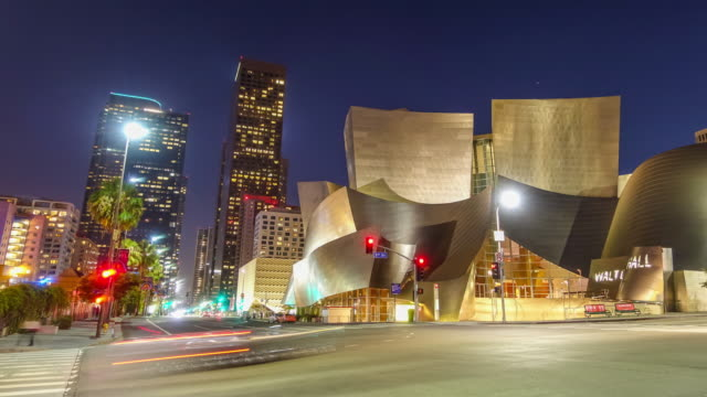 Time lapse of downtown Los Angeles cityscape in California