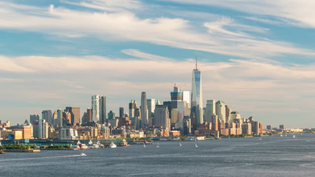 Time lapse of downtown New York City skyline