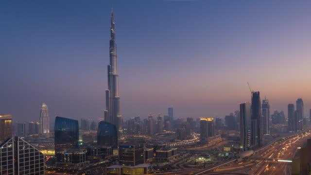 ZO Time Lapse of Dubai Skyline at dusk