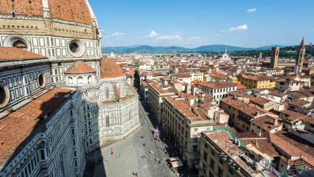 florence - circa 2013: time lapse of duomo from campanile di giotto   - 2013 stock videos & royalty-free footage
