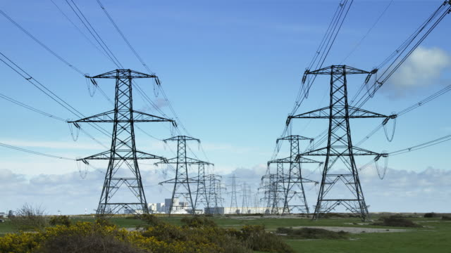 WS time lapse of electricity pylons