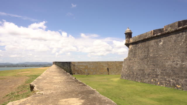 time lapse of famed el morro fort in old san juan puerto rico - puerto rico stock videos and b-roll footage