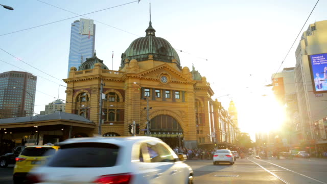 time lapse of flinders street station - melbourne, australia - railway station stock videos & royalty-free footage