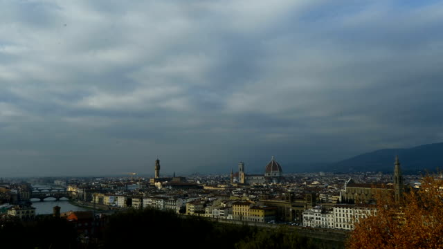 Time lapse of Florence old town, including cathedral/ Duomo in Italy